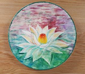 Wichita Lotus Flower Plate